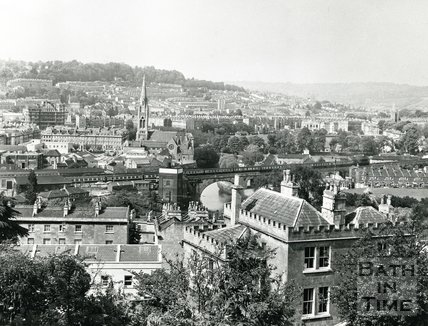 View of Bath from Lyncombe Hill, 1971
