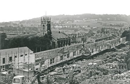 Construction of new houses in Calton Gardens, Bath, 26 August 1971