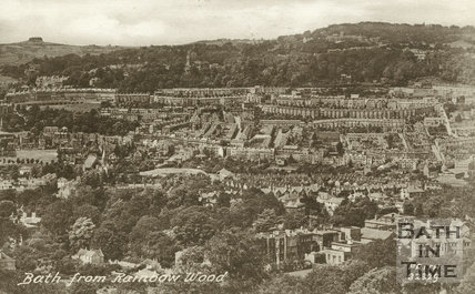 View of Bath from Rainbow Wood 1929