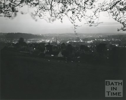View of Bath at dusk from North Road, 1975/6
