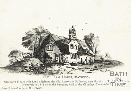 Old Farm House, Bathwick, Bath, demolished 1842