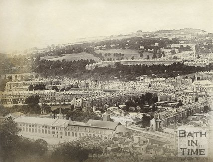 View of the Newark Works and Avon Street, Bath, c.1885