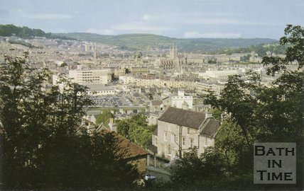 View of Bath from the southwest, c.1980