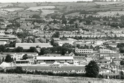 View of Twerton Park football ground, c.1992