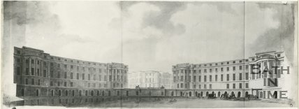 Robert Adam's perspective view of one of the proposed crescents in the Bathwick Estate, Bath, c.1780