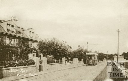 Bath tram No.94 at North Road, Combe Down, c.1910
