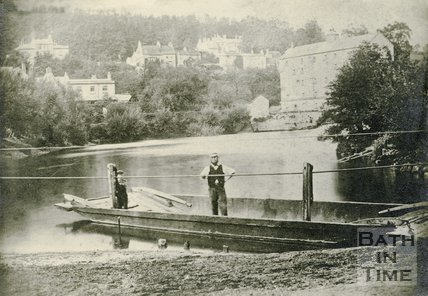 The rope ferry at Bathampton, c.1870