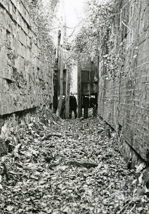 A disused lock in the Combe Hay area on the Somersetshire Coal Canal, c.1965