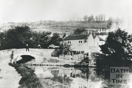 Canal Cottage at Monkton Combe on the Somersetshire Coal Canal, 1890