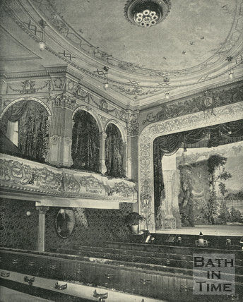 Interior of the Lyric Theatre, Sawclose, Bath, 1897