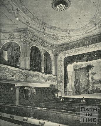 Interior of the Lyric Theatre, Sawclose, Bath, 1897