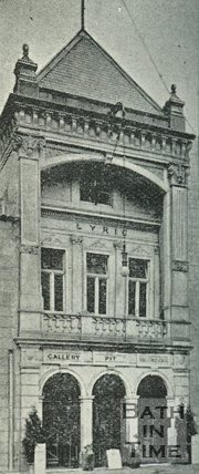 Entrance to the Lyric Theatre, Sawclose, Bath, 1897