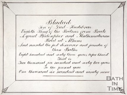 Inscription of Bladud of Bath,