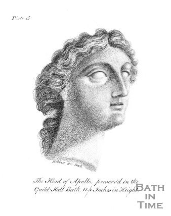 The Head of Apollo, preserved in the Guildhall, Bath. 11 1/2 Inches in Height, 1798