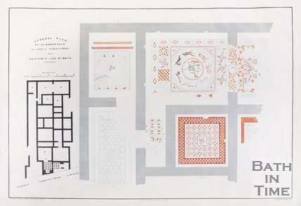 General Plan of the Roman Villa as Lately Discovered at Newton-St. Loe-nr.-Bath, 1839