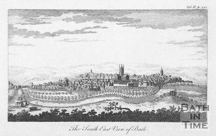 The South East View of Bath. Above right : Vol.II.p.210, 1764