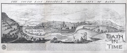 The South East Prospect of the City of Bath (above), 1734