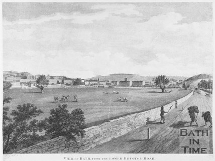 View of Bath from the Lower Bristol Road, c.1801