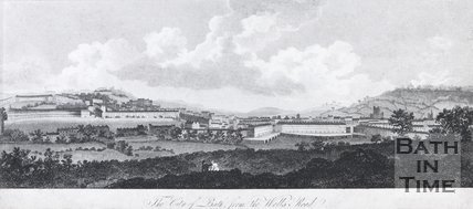 The City of Bath, from the Wells Road, 1808