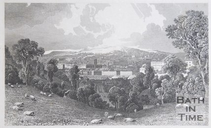 South View of the City of Bath, 1827