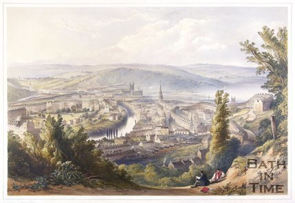 Bath from Beacon Hill, 1850