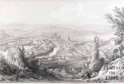 Bath from Beacon Hill, 1850
