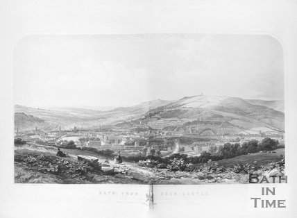 Bath from Sham-Castle, 1850