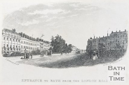 Entrance to Bath from the London Road, c.1837