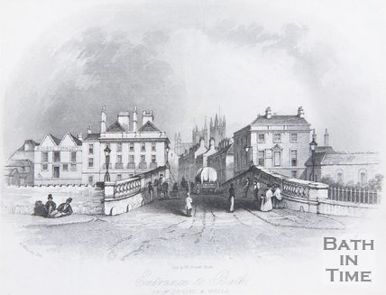 Entrance to Bath from Bristol and Wells, 1844