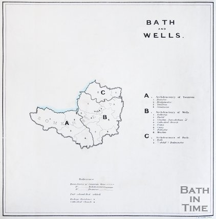 Map of Bath and Wells, 1836