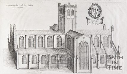 The South Prospect of the Cathedral Church of Bath, 1655