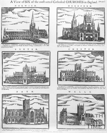 A view of six of most noted cathedral churches in England, supposed date 1716-1720.