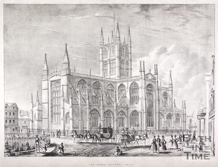 The Abbey Church, Bath, N.E. view, c.1836