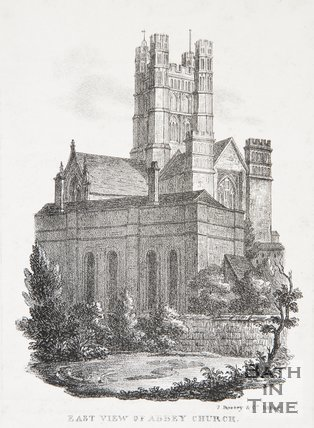East View of Abbey Church, 1823