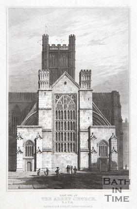 East End of the Abbey Church, Bath, 1824