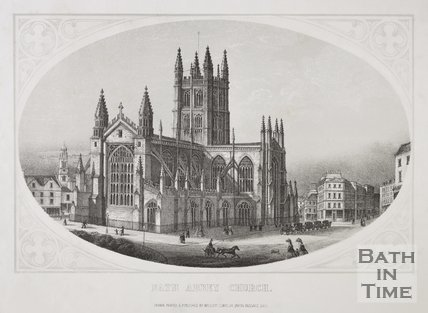 Bath Abbey Church, c.1857