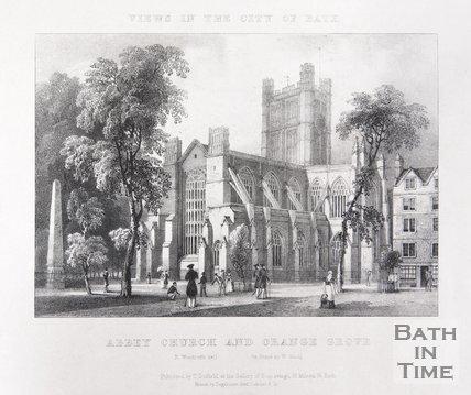 Bath Abbey Church and Orange Grove, c.1830