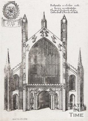 Bathensis ecclesiae cath: facies occidentalis, 1655