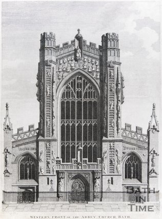 Western Front of the Abbey Church, Bath, 1801