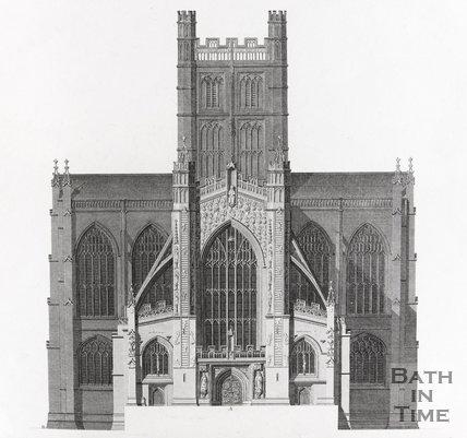 Bath Abbey - West Front 1798, 1798