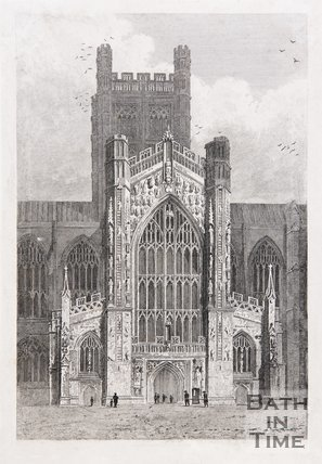The West Door of Bath Cathedral, c.1816