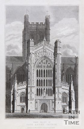 West Front of Bath Abbey Church. c.1815