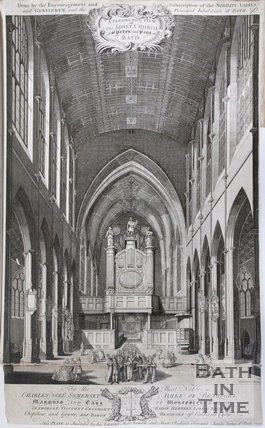 A Perspective View of the Abbey Church of St Peter and St Paul, 1750