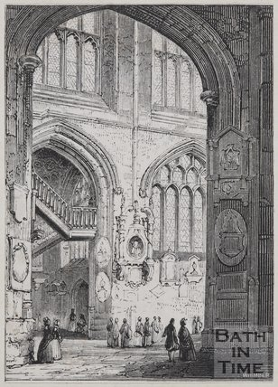 Bath Cathedral, 1843