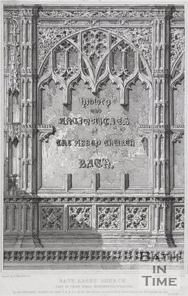 Bath Abbey Church. Part of Prior Birds Monumental Chantry, date not known