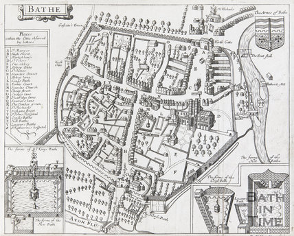 Map of Bathe, 1610