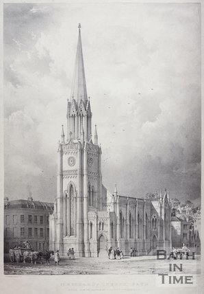 St. Michael's Church, Bath, c.1837