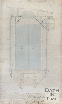 Plan of roofing showing lead flats & gutters St. Michael's Church, Bath, c.1856