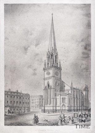 St. Michael's Church, Bath, c.1836