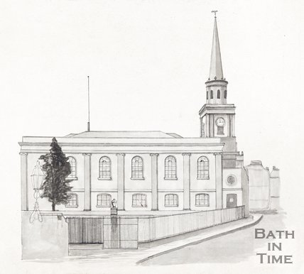Walcot Church, Bath, 1849